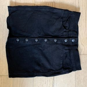 Madewell Skirts - Madewell black denim skirt.